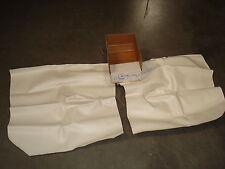 1971-73 Ford Mustang Coupe Quarter Panel Trim White Vinyl Interior Upholstery