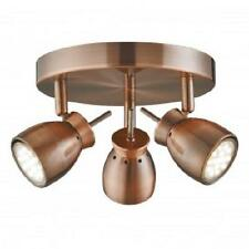 SEARCHLIGHT 8813CU Jupiter 3 Light Ceiling Spotlight in Antique Copper Finish