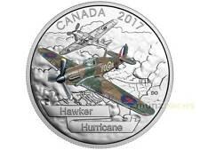 20 $Dólar Aircraft SECOND WORLD WAR Hawker Hurricane Canadá 1 OZ PLATA 2017