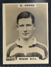 PINNACE FOOTBALL-PINNACE BACK-#1825- RUGBY - WIGAN RFL - G. OWENS