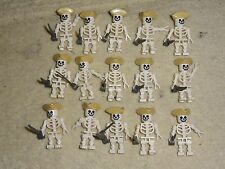 Offical lego brand 15 Skeleton pirates w/ cutlass weapon and tricorne hat type 2