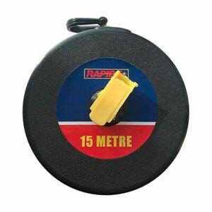 15m/48ft Fiberglass Tape Measure Builders Surveyors Long Roll Measuring Meters