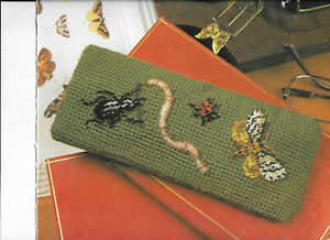 Insects Glasses Case Graham Rust Ehrman Designer Tapestry Needlepoint Chart