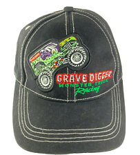 Monster Jam Grave Digger Monster Truck Racing Adjustable Ballcap Patch Youth