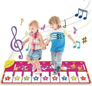 DE Musikmatte Spielzeug Maedchen 1 Jahr, 2 ,3,4 Jahre,Klaviertastatur Tanzmatte