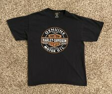 Harley-Davidson Museum Mens Graphic T-Shirt Large Black Motor Oil Spell Out