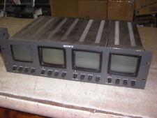 Sony PVM-411 Quad 4 Rack Mount 4 Inch Monitors