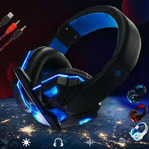 Gaming Headset 3.5mm Over-Ear Stereo Gaming Headphone Microphone For N-Switch