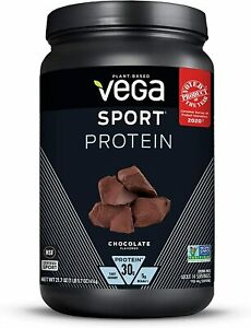 Vega Sport Protein Chocolate 21.7 oz 30g Protein Best By 12/21 or Better!