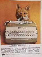 Lot of 3 Vintage 1961 Smith Corona Portable Typewriter Print Ads Quick Brown Fox