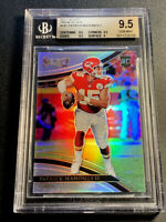 PATRICK MAHOMES 2017 PANINI SELECT FIELD LEVEL SILVER PRIZM REFRACTOR RC BGS 9.5
