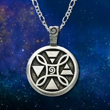 **ELEMENTAL* Sun Moon Star Limited Series Pendant Necklace Wiccan Pagan SM7