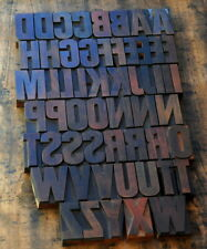 A Z Alphabet 283 Letterpress Wooden Printing Blocks Type Printer Vintage Rare