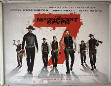 Cinema Poster: MAGNIFICENT SEVEN, THE 2016 (Quad) Denzel Washington Chris Pratt