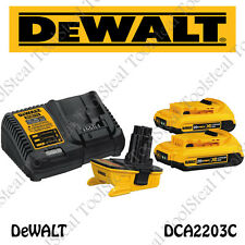 DeWALT DCA2203C 20V MAX* Battery Adapter Kit FOR 18V Tools Full factory WARRANTY