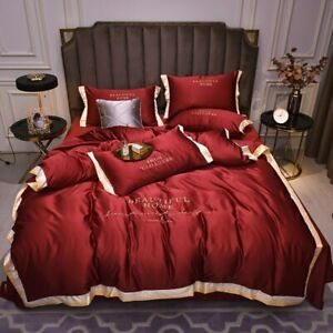 2020 New Luxury Bedding Set High-End 60 Tencel Embroidery Sheet Home Bedding