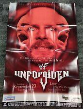 "WWF WWE PPV Poster 27""x39"" Steve Austin Unforgiven 2001 OFFICIAL POSTER RARE!!"