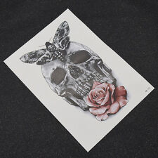 Temporary Tattoos 3D Stickers Rose Skull Waterproof Body Art Water Transfer