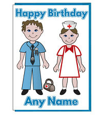 Personalised Doctor And Nurse Birthday Card