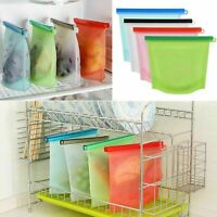 Reusable Silicone Food Vacuum Storage Seal Fresh Bags Bag Sealer Meat Fruit Milk