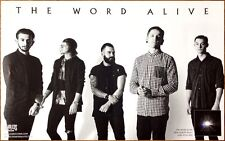 The Word Alive Real Ltd Ed Discontinued Rare Poster +Free Punk Rock Metal Poster