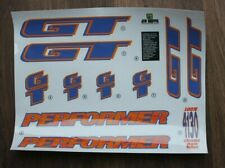 For Splatter Painted Frame Reproduction 1994 GT Performer BMX Decal Set