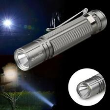 1X Durable  Q5 LED Lamp Flashlight Torch 14500 AA Aluminum Outdoor Silver TR