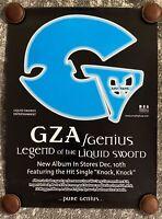 Gza/Genius - Legend of the Liquid Sword - Poster - Vintage - New