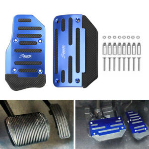 Car Blue Non-Slip Automatic Gas Brake Foot Pedal Pad Cover Universal Accessories