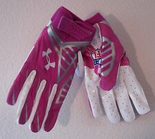 NEW Under Armour Nitro Warp A Crucial Catch Mens Skill Football Gloves 3XL Pink