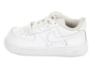 Nike Air Force 1 (TD) Toddler Size 9C Sneaker 314194-117 White / White Leather