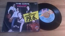 "7"" pop The Days-Teacher Teacher (2) canzone spiaggia Teldec PROMO-Sleeve"