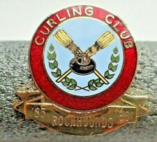 Curling Club Rockhounds Pin 85 - 86