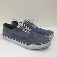 Men's BKE BUCKLE Denim Jean Fabric Lace Up Casual Sneakers Skate Shoes Sz 9 GRT!