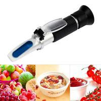 0-32% Brix Réfractomètre Moelleux Tester pour Jus de vin Sucre Bière Fruit Miel