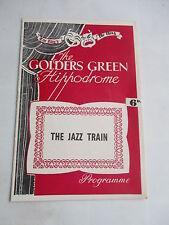 1955  THE JAZZ TRAIN MERVYN NELSON GOLDERS GREEN HIPPODROME PROGRAMME