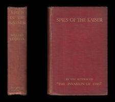 1909 Le queux Spione der Kaiser Plotten der Untergang des England-Deutsche Plot