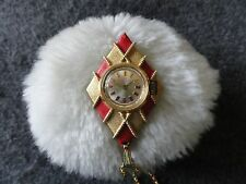 Swiss Made American Time Wind Up Necklace Pendant Watch