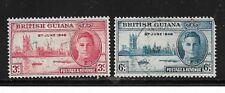 British Guiana Stamps- Scott # 242-243/CD303-Canc/H-1946-NG