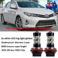 For Toyota Corolla hatch 2012 - 2015 Fog Light Globes 8000lm White CREE LED Bulb