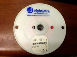 Alpha Wire Test Lead Wire 100ft Red Spool 20 AWG 1632 Copper