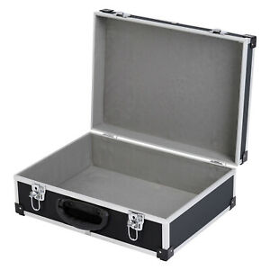 Werkzeugkoffer Alukoffer Alurahmenkiste Box Aufbewahrung 38,5x13x28 cm schwarz