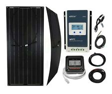 Black 100w Flexible Solar Panel Caravan Boat Marine K4 MPPT Charge Controller
