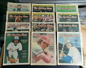 The Sporting News 1978 Issues Lot of 24   G