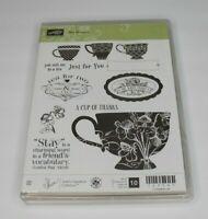 Stampin' Up! Tea Shoppe 10 Piece Stamp Set #125547 Scrap booking Craft