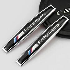 2pcs 3D Auto M Performance Aufkleber Emblem Schriftzug für Schutzblech für Black