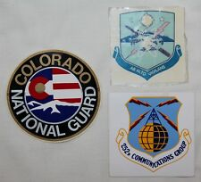 ORIGINAL LOT OF 3 VINTAGE USAF & NATIONAL GUARD DECALS, ONE IS USED