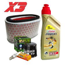 Kit tagliando Castrol 20W50 filtro olio aria candele Honda VT C Shadow 750