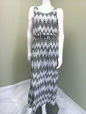 MAGIC Women's Black & White Chevron Jersery Dress~Size M
