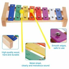 Wooden educational small toy percussion metal kids Octave Xylophone 8 notes gift